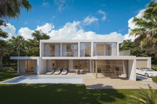 Minimalistisches, modernes Villenprojekt in Santa Ponsa