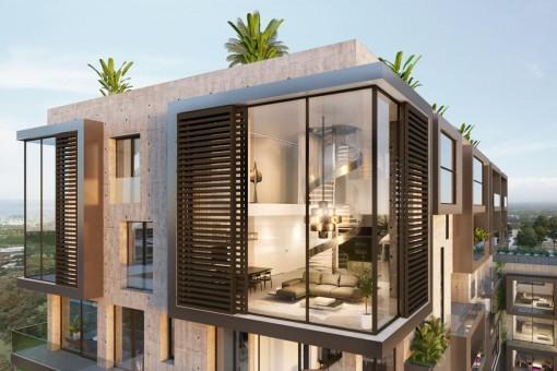 Beeindruckendes Luxus-Penthouse mit Dachterrasse, Pool, Garage und Meerblick in Nou Llevant, Palma