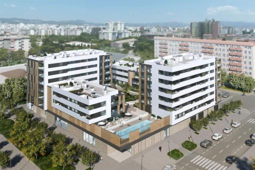 Moderne Wohnung in exklusiver Wohnanlage in Nou Llevant, Palma