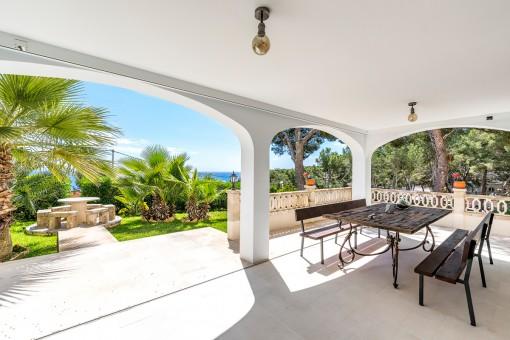 Wunderschönes Gartenapartment mit Meerblick und weiteren Besonderheiten in Cala Vinyes