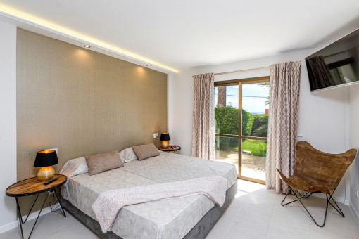 Doppelschlafzimmer mit Gartenzugang