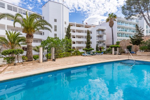 Zentral gelegenes Meerblickapartment in Santa Ponsa