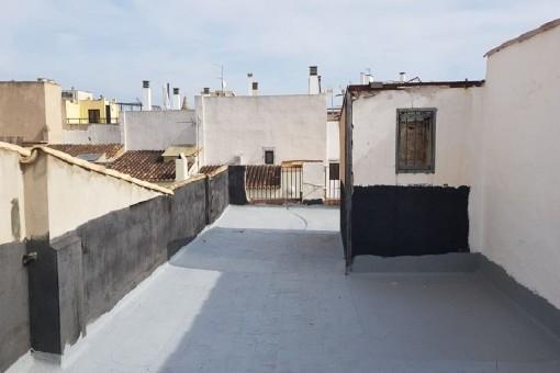 Großer Dachterrasse