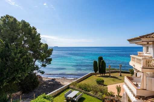 Meerblickapartment mit direkter Verbindung zum Meer in Palmanova