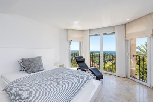 Zweites Schlafzimmer mit Meerblick