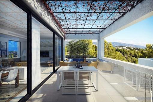 Beeindruckendes Neubau-Projekt in Cala Vinyas mit 16 Reihenhäusern