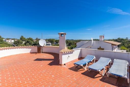 Dachterrasse mit Panoramablick