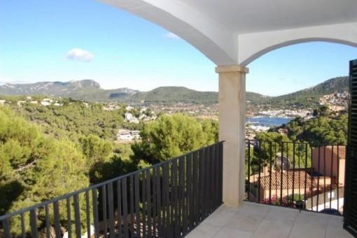 Herrlicher Ausblick vom Balkon