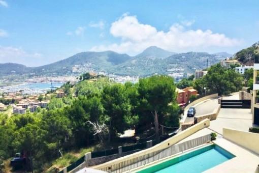 Modernes Apartment mit atemberaubenden Blick auf den Hafen in Port d'Andratx