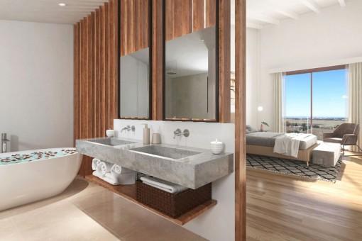 Elegantes Badezimmer en Suite
