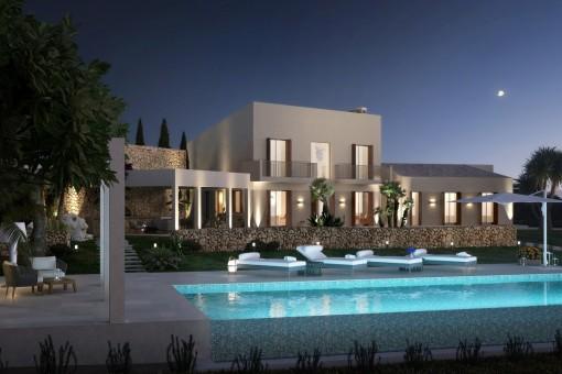Eleganter Poolbereich