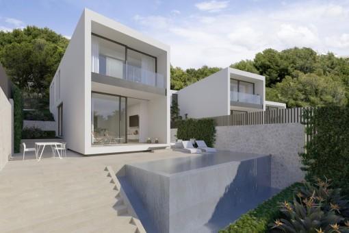 Meerblick-Grundstück in Sant Agustí für urbanes Haus-Projekt