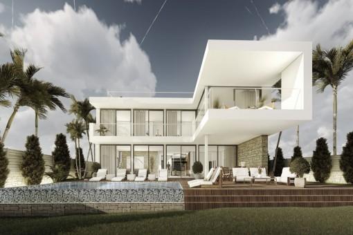 Fantastisches Projekt einer 4-Schlafzimmer Villa mit Meerblick in Cala Vinyes / Sol de Mallorca