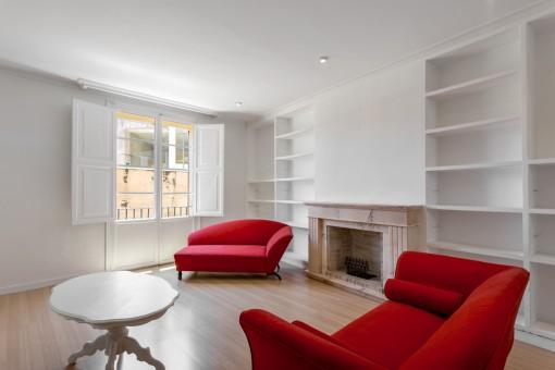 Geschmackvoll renovierte, großflächige Wohnung mit Zentralheizung & Terrasse in ruhiger Altstadtlage Palmas