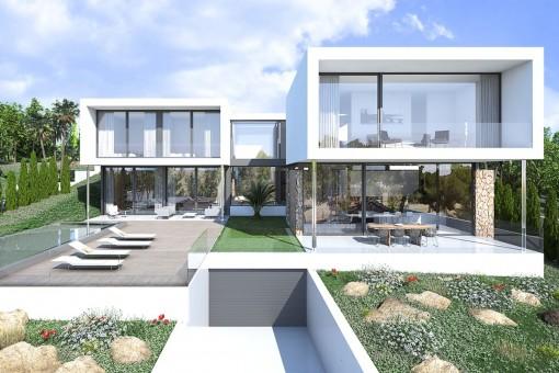 Fantastisches Neubau-Projekt einer 4-Schlafzimmer-Villa mit Pool in Sol de Mallorca