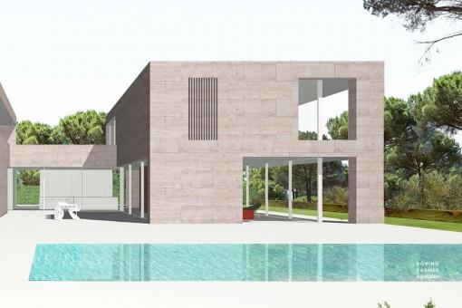Plan der Villa