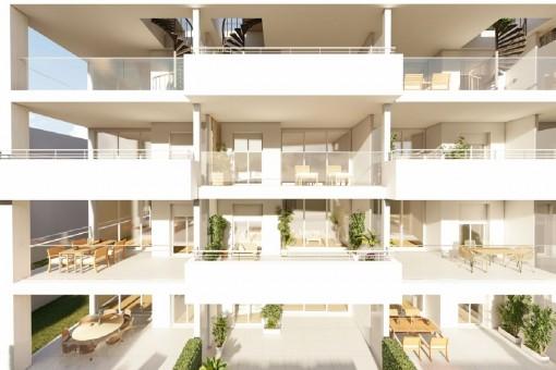 Neubau-Wohnung im ersten und zweiten Stockwerk! - 2 Schlafzimmer Apartment in Cala Ratjada