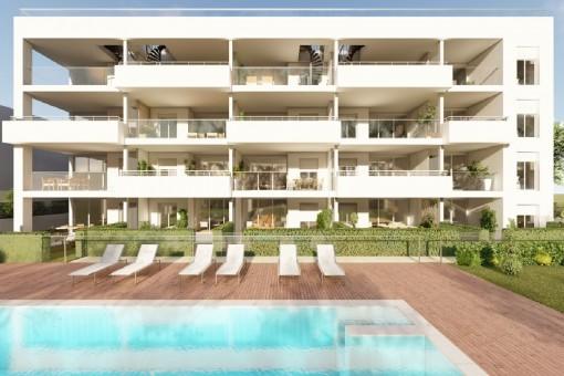 Neubau-Projekt für den Bau von Penthäusern mit herrlichem Meerblick in Cala Ratjada