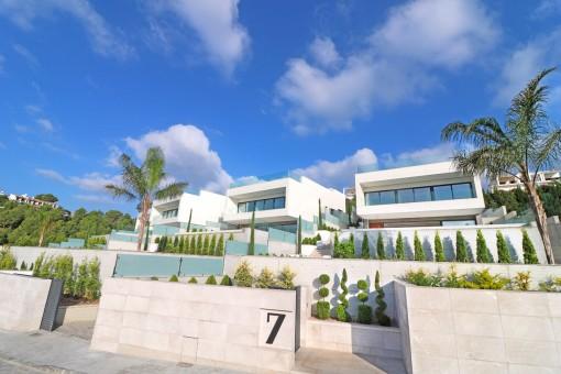 Gerade fertiggestellte Meerblickvilla am schönsten Golfplatz der Insel mit Blick über die Bucht von Alcúdia