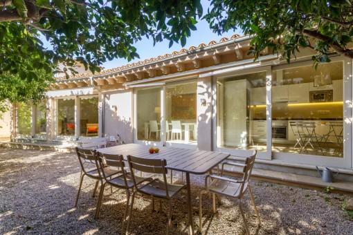 Renoviertes Haus mit Garten und großer Dachterrasse mit Panoramablick in Sóller