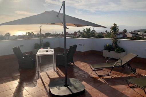 Wohnung mit spektakulärer Dachterrasse und super Blick auf die Bucht von Palma