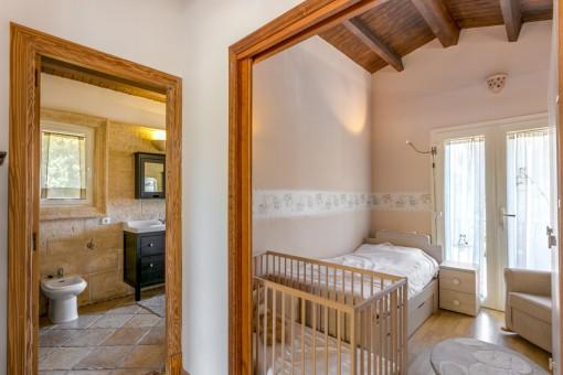 Einzelschlafzimmer im Obergeschoss