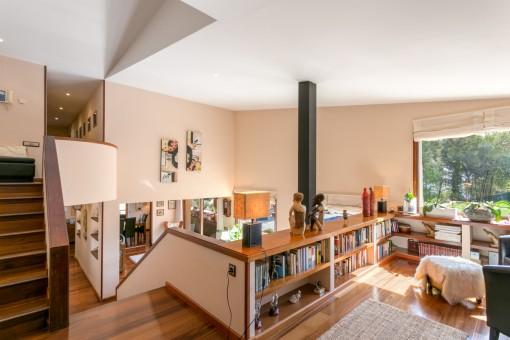 Lounge Bereich mit Blick auf den Wohnbereich