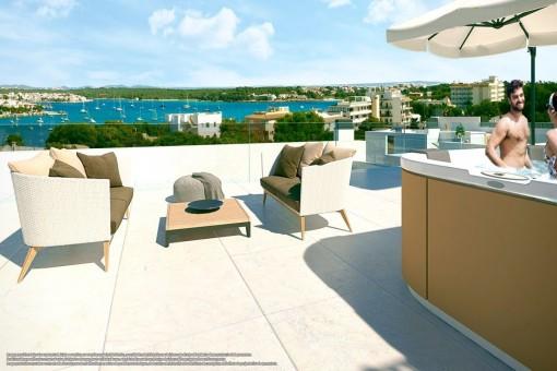 Moderne Erstbezugswohnungen in toller Wohnanlage nur 500 Meter vom Meer entfernt in Portocolom