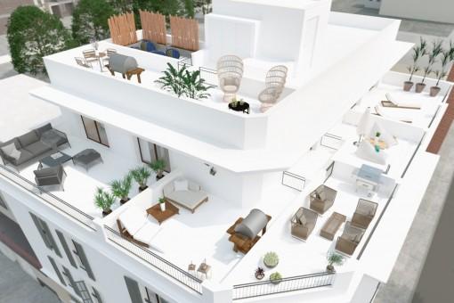 Duplex Penthouse mit schöner Terrasse in zentraler Lage nahe Santa Catalina, Palma