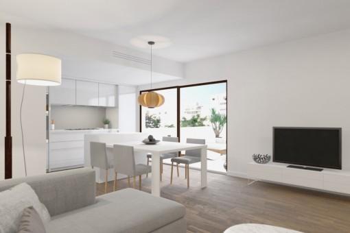Neubauwohnung mit schöner Dachterrasse in zentraler Lage nahe Santa Catalina, Palma