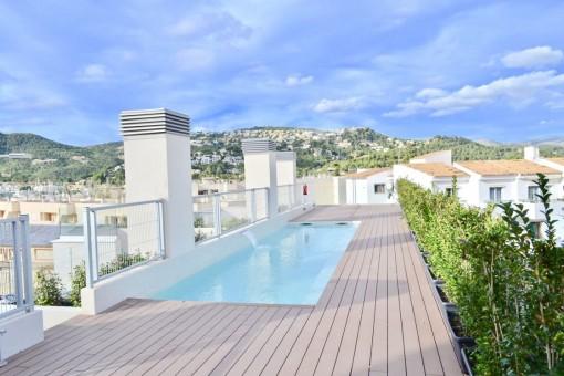 Penthouse-Apartment mit 2 privaten Terrassen und 3 Schlafzimmern in Port Andratx