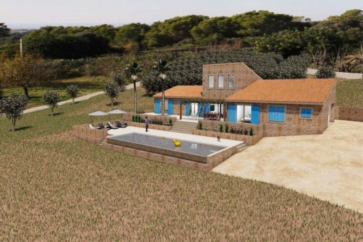 Traumhaftes Grundstück mit spektakulärem Meerblick und Basisprojekt in Roca Blanca, Portocolom