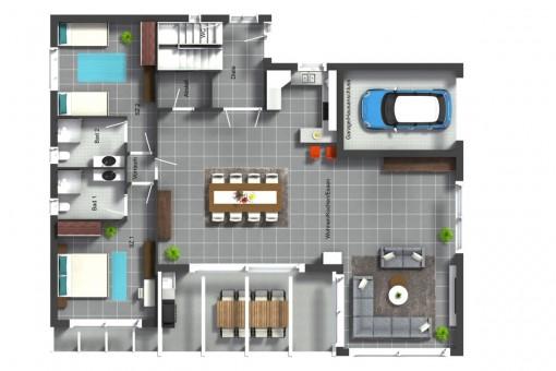 Grundriss des Erdgeschosses