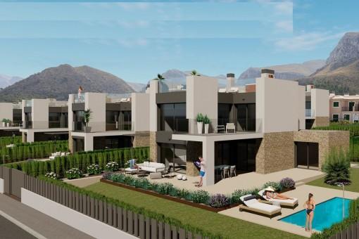 Exklusives Bauprojekt für 27 Einfamilienhäuser mit privatem Pool und fantastischem Meerblick in Colònia de Sant Pere
