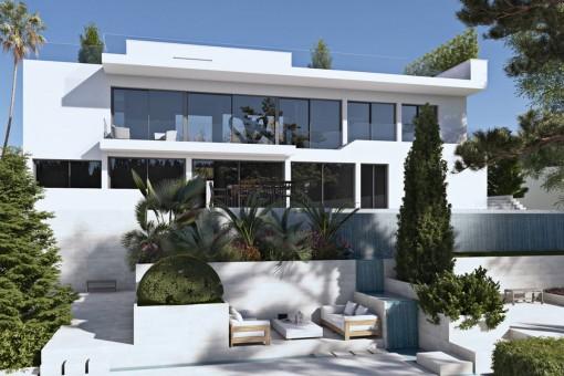 Neubau-Luxusvilla mit einem eleganten Design in Son Vida