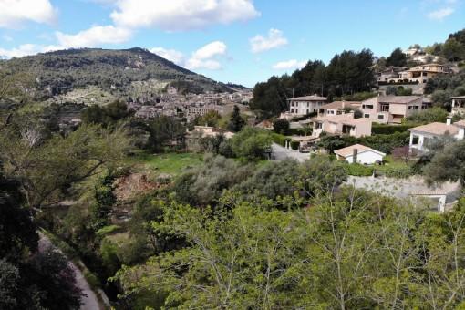 Traumhafter Blick auf das Dorf