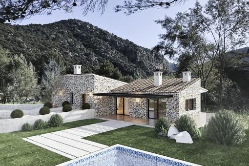 Neubauprojekt einer Villa in Valldemossa