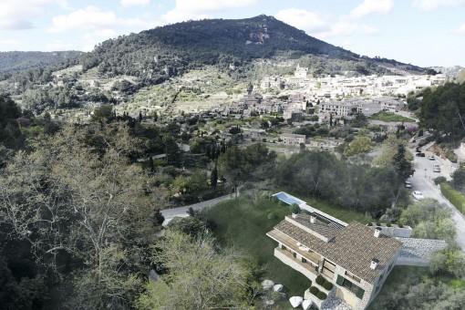 Villa mit beeindruckendem Dorfblick