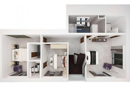 Plan des Obergeschosses
