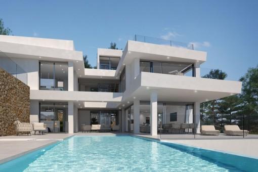 Spektakuläre Designervilla in erster Linie<br /> mit eigenem Zugang zum Meer