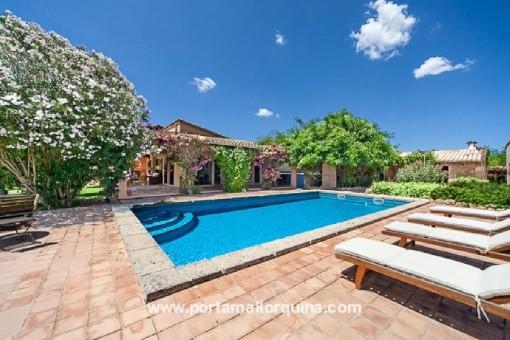 Zauberhafte Finca in ruhiger, idyllischer Umgebung in Campos mit herrlichem Außenbereich