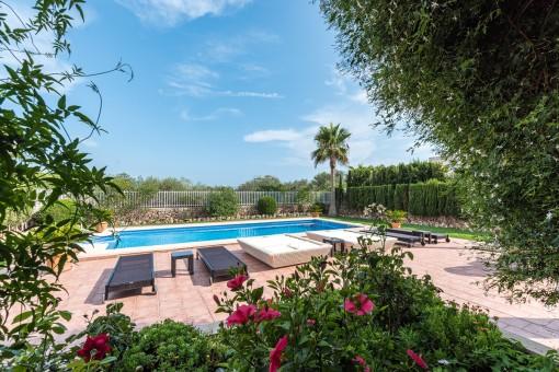 Bezaubernder Garten mit Pool