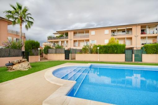 Gartenwohnung über 2 Etagen in gepflegter Anlage in Sa Torre