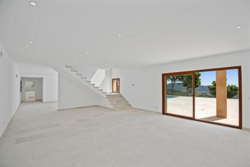 Großer Wohnbereich im Erdgeschoss