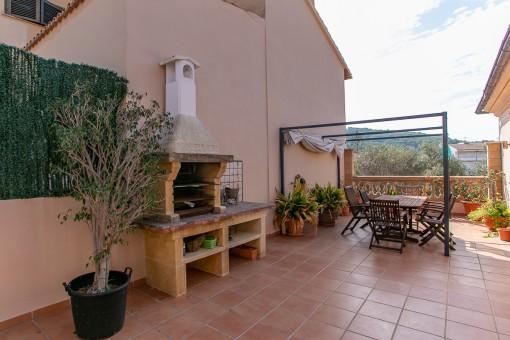 Herrliche Terrasse mit Grillbereich