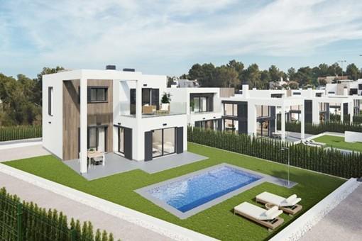 Schöne, moderne Villen in stilvoller Wohnanlage in Cala Murada