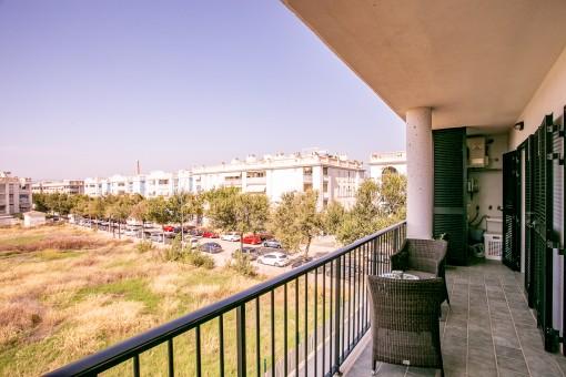 Alternative Ansicht des Balkons