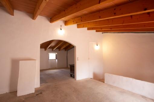 Großer Raum auf der obersten Etage