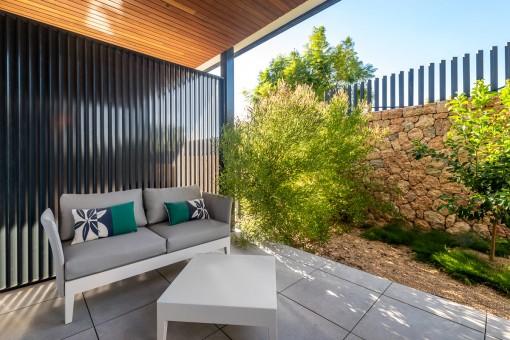 Neue Gartenwohnung in einem Komplex in ruhiger Gegend und Golfplatznähe in Son Vida