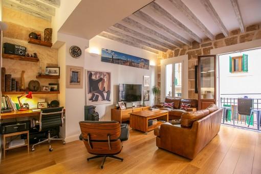 Wunderschön restaurierter Wohnbereich